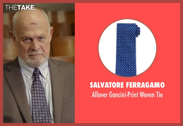 Salvatore Ferragamo	 blue tie from The Best of Me seen with Gerald McRaney (Tuck)