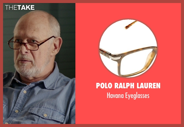 Polo Ralph Lauren brown eyeglasses from The Best of Me seen with Gerald McRaney (Tuck)