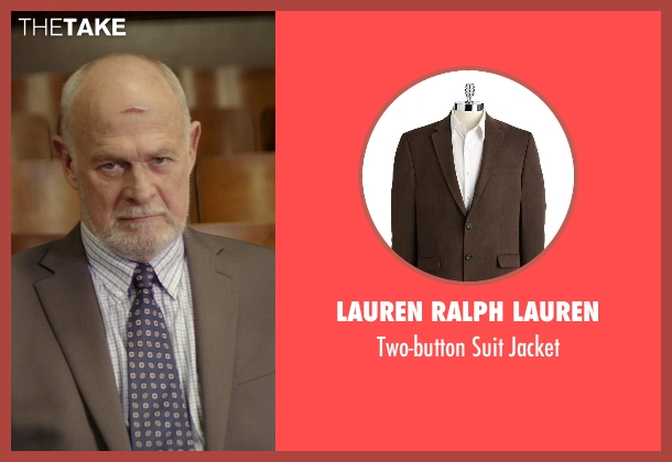 Lauren Ralph Lauren brown jacket from The Best of Me seen with Gerald McRaney (Tuck)