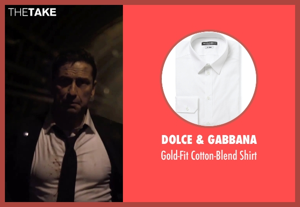 Dolce & Gabbana white shirt from London Has Fallen seen with Gerard Butler (Mike Banning)
