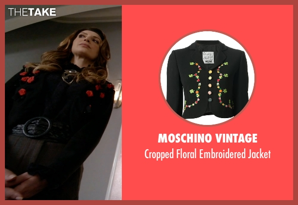 Moschino Vintage black jacket from Scream Queens seen with Gigi Caldwell (Nasim Pedrad)