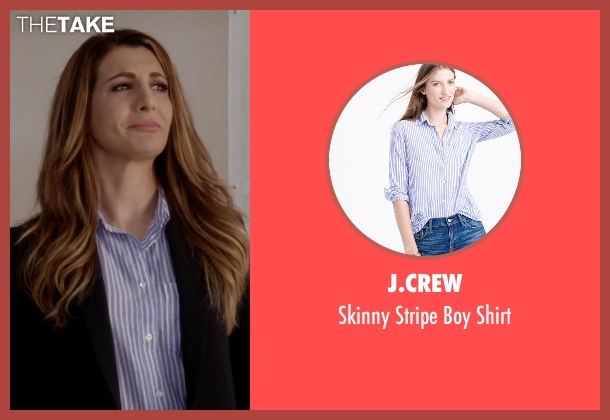 J.Crew blue shirt from Scream Queens seen with Gigi Caldwell (Nasim Pedrad)