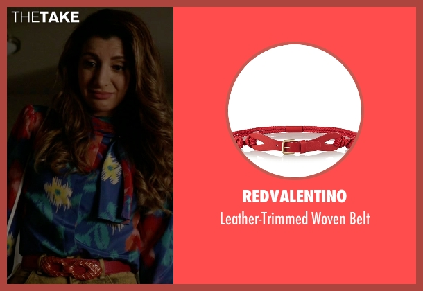Redvalentino red belt from Scream Queens seen with Gigi Caldwell (Nasim Pedrad)