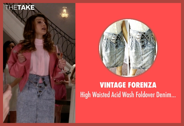 Vintage Forenza blue skirt from Scream Queens seen with Gigi (Nasim Pedrad)