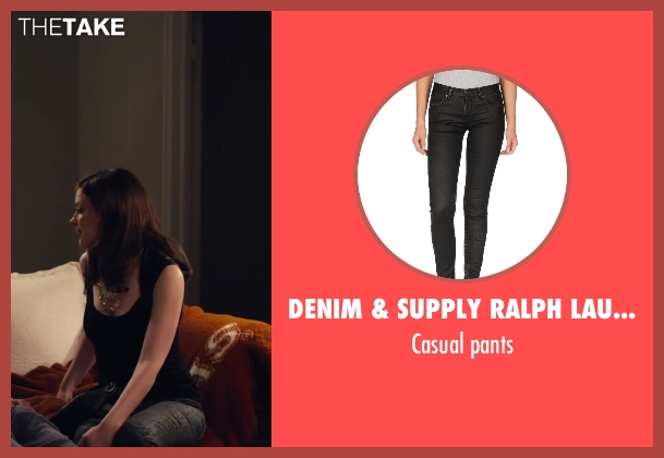 DENIM & SUPPLY RALPH LAUREN black pants from Walk of Shame seen with Gillian Jacobs (Rose)