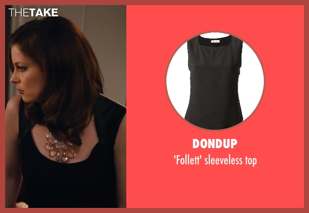 DONDUP black top from Walk of Shame seen with Gillian Jacobs (Rose)