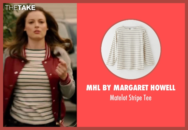 MHL BY MARGARET HOWELL white tee from Walk of Shame seen with Gillian Jacobs (Rose)