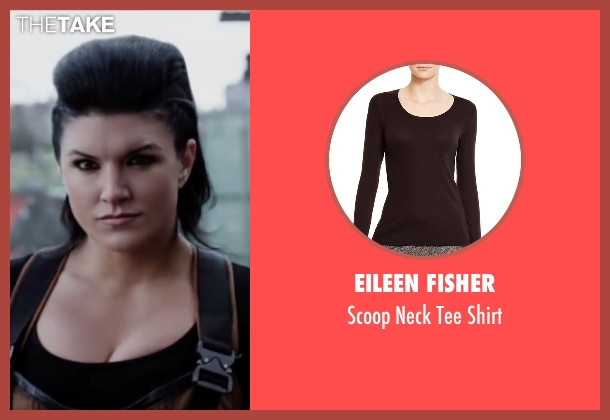 Eileen Fisher black shirt from Deadpool seen with Gina Carano (Angel Dust)
