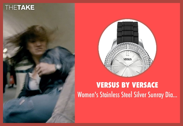 Versus by Versace black watch from Fast & Furious 6 seen with Gina Carano (Riley)