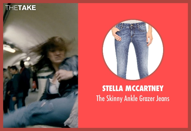 Stella McCartney blue jeans from Fast & Furious 6 seen with Gina Carano (Riley)