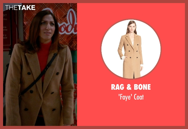 Rag & Bone beige coat from Brooklyn Nine-Nine seen with Gina Linetti (Chelsea Peretti)