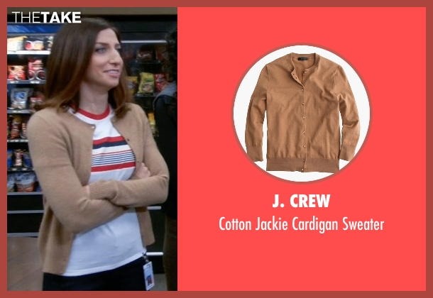 J. Crew beige sweater from Brooklyn Nine-Nine seen with Gina Linetti (Chelsea Peretti)