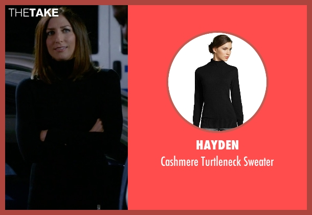Hayden black sweater from Brooklyn Nine-Nine seen with Gina Linetti (Chelsea Peretti)