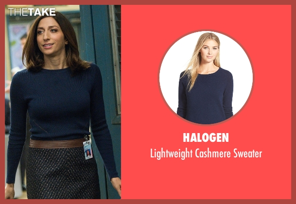 Halogen blue sweater from Brooklyn Nine-Nine seen with Gina Linetti (Chelsea Peretti)