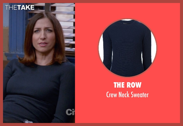The Row blue sweater from Brooklyn Nine-Nine seen with Gina Linetti (Chelsea Peretti)