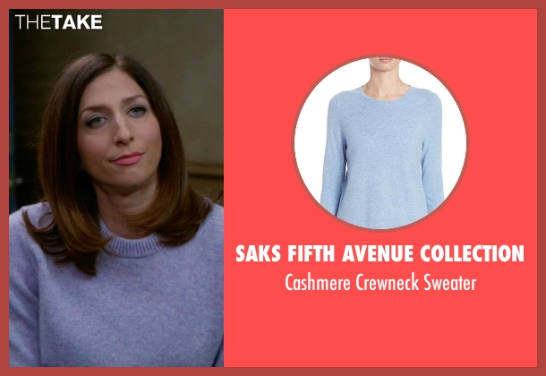 Saks Fifth Avenue Collection blue sweater from Brooklyn Nine-Nine seen with Gina Linetti (Chelsea Peretti)