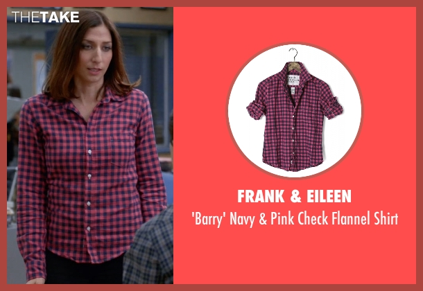 Frank & Eileen pink shirt from Brooklyn Nine-Nine seen with Gina Linetti (Chelsea Peretti)