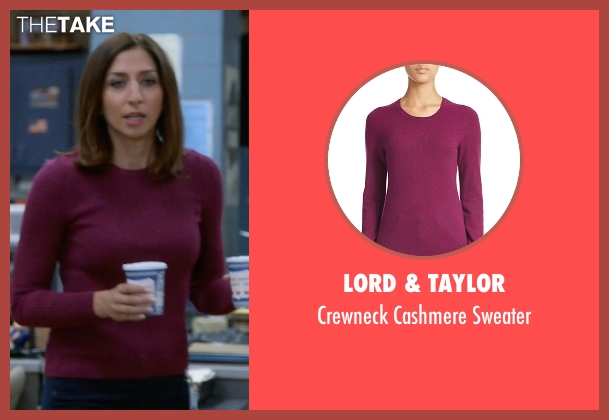Lord & Taylor purple sweater from Brooklyn Nine-Nine seen with Gina Linetti (Chelsea Peretti)