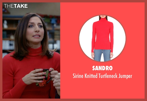 Sandro red jumper from Brooklyn Nine-Nine seen with Gina Linetti (Chelsea Peretti)