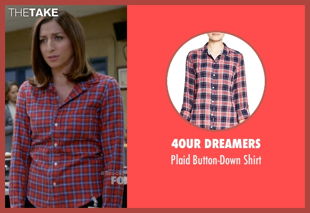 4our Dreamers red shirt from Brooklyn Nine-Nine seen with Gina Linetti (Chelsea Peretti)