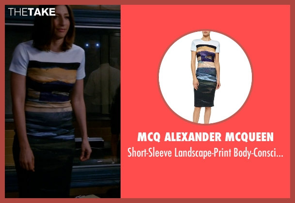 McQ Alexander McQueen white dress from Brooklyn Nine-Nine seen with Gina Linetti (Chelsea Peretti)