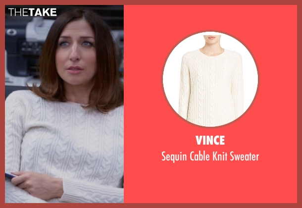 Vince white sweater from Brooklyn Nine-Nine seen with Gina Linetti (Chelsea Peretti)
