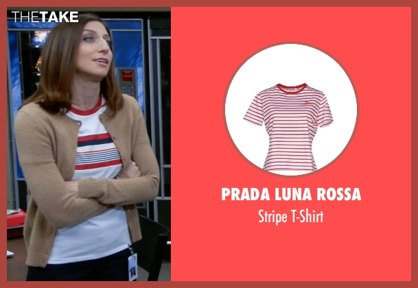 Prada Luna Rossa white t-shirt from Brooklyn Nine-Nine seen with Gina Linetti (Chelsea Peretti)