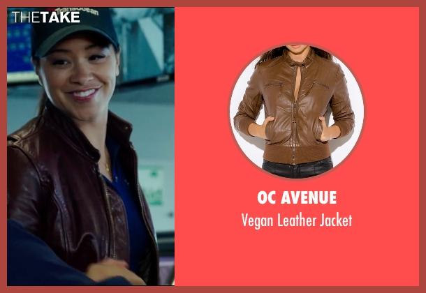 OC Avenue brown jacket from Deepwater Horizon seen with Gina Rodriguez (Andrea Fleytas)