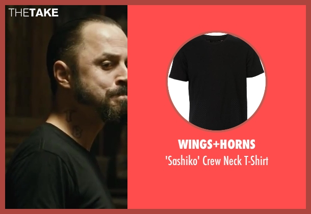 Wings+Horns black t-shirt from Contraband seen with Giovanni Ribisi (Tim Briggs)