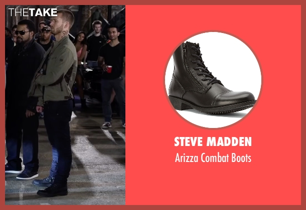 Steve Madden black boots from Ride Along 2 seen with Glen Powell (Troy Bolton)