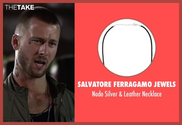 Salvatore Ferragamo Jewels black necklace from Ride Along 2 seen with Glen Powell (Troy Bolton)