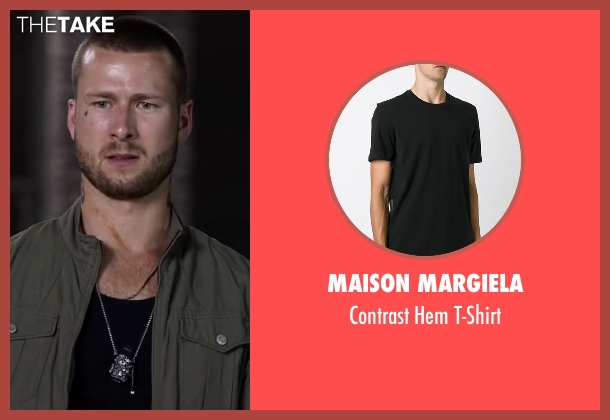 Maison Margiela black t-shirt from Ride Along 2 seen with Glen Powell (Troy Bolton)