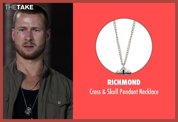 Richmond silver necklace from Ride Along 2 seen with Glen Powell (Troy Bolton)