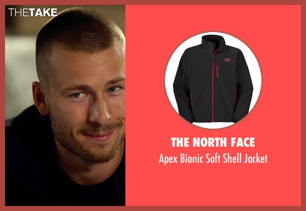 The North Face black jacket from The Expendables 3 seen with Glen Powell (Thorn)
