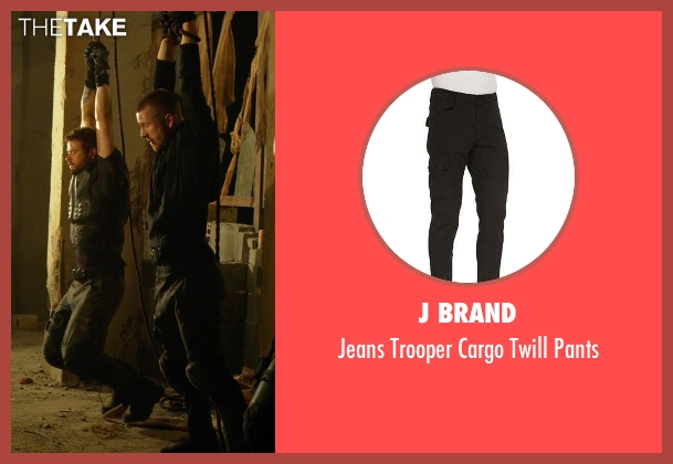 J Brand black pants from The Expendables 3 seen with Glen Powell (Thorn)
