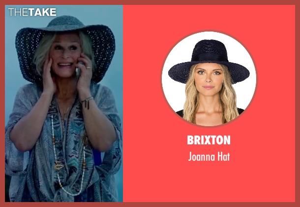 Brixton blue hat from Bastards seen with Glenn Close (Helen Baxter)