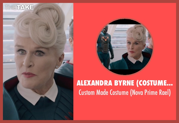 Alexandra Byrne (Costume Designer) costume from Guardians of the Galaxy seen with Glenn Close (Nova Prime Rael)
