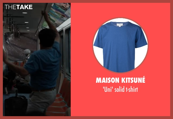 MAISON KITSUNÉ blue t-shirt from Godzilla