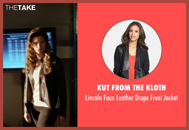 Kut From The Kloth black jacket from The Flash seen with Golden Glider (Peyton List)