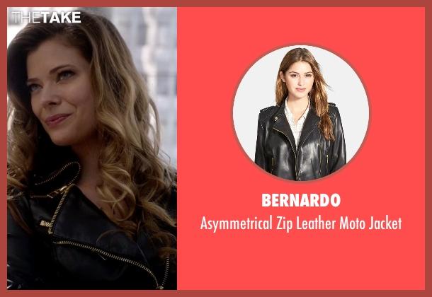 Golden Glider's Black Bernardo Asymmetrical Zip Leather