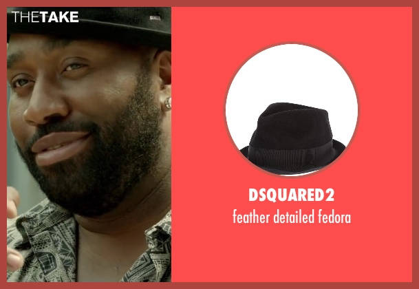 DSQUARED2 black fedora from Brick Mansions seen with Gouchy Boy (K2)