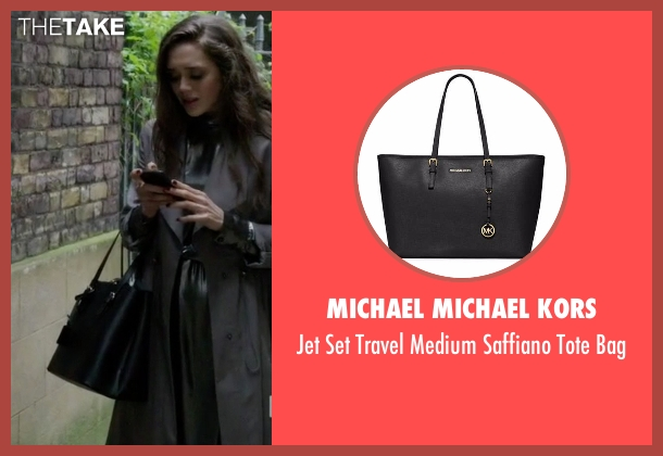 Michael Michael Kors black bag from Guilt seen with Grace Atwood (Daisy Head)