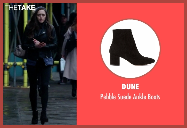 Dune black boots from Guilt seen with Grace Atwood (Daisy Head)