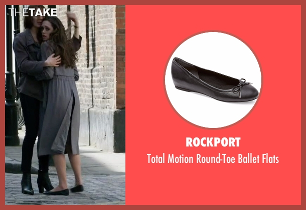 Rockport black flats from Guilt seen with Grace Atwood (Daisy Head)