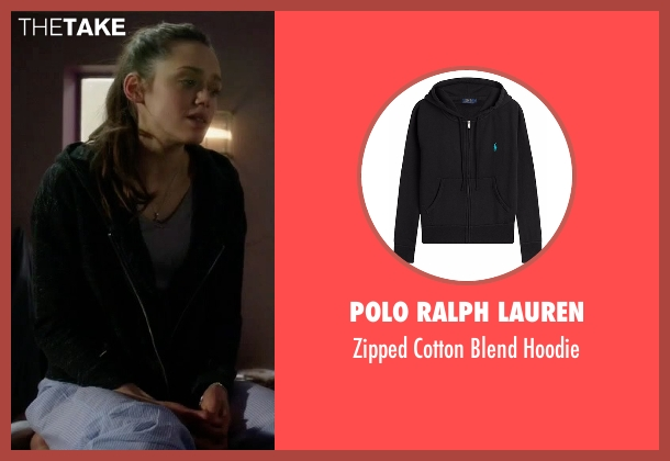 Polo Ralph Lauren black hoodie from Guilt seen with Grace Atwood (Daisy Head)