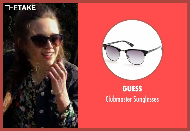 Guess black sunglasses from Guilt seen with Grace Atwood (Daisy Head)