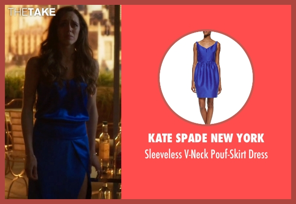 Kate Spade New York blue dress from Guilt seen with Grace Atwood (Daisy Head)