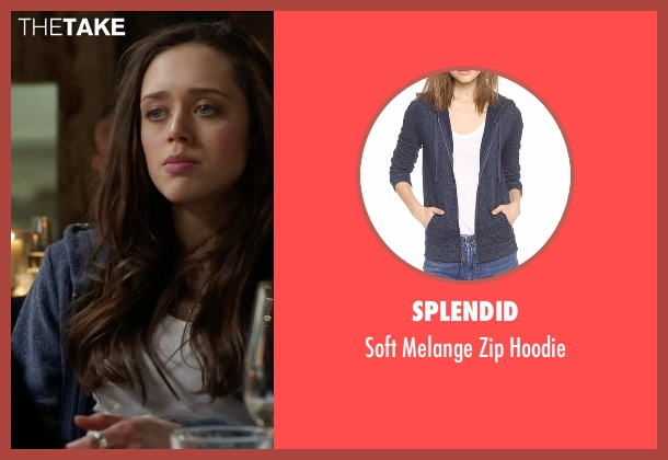 Splendid blue hoodie from Guilt seen with Grace Atwood (Daisy Head)