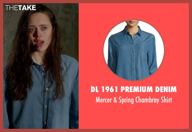 DL 1961 Premium Denim blue shirt from Guilt seen with Grace Atwood (Daisy Head)