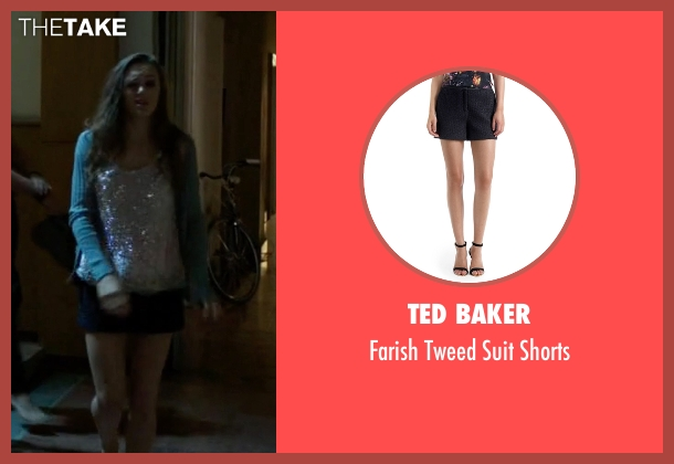 Ted Baker blue shorts from Guilt seen with Grace Atwood (Daisy Head)